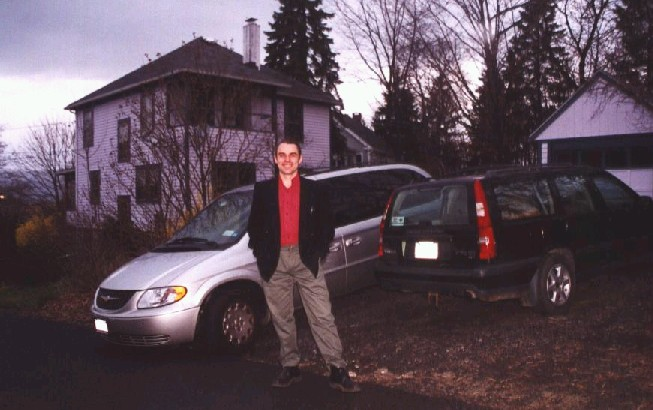 Ryszard in front of his home office.