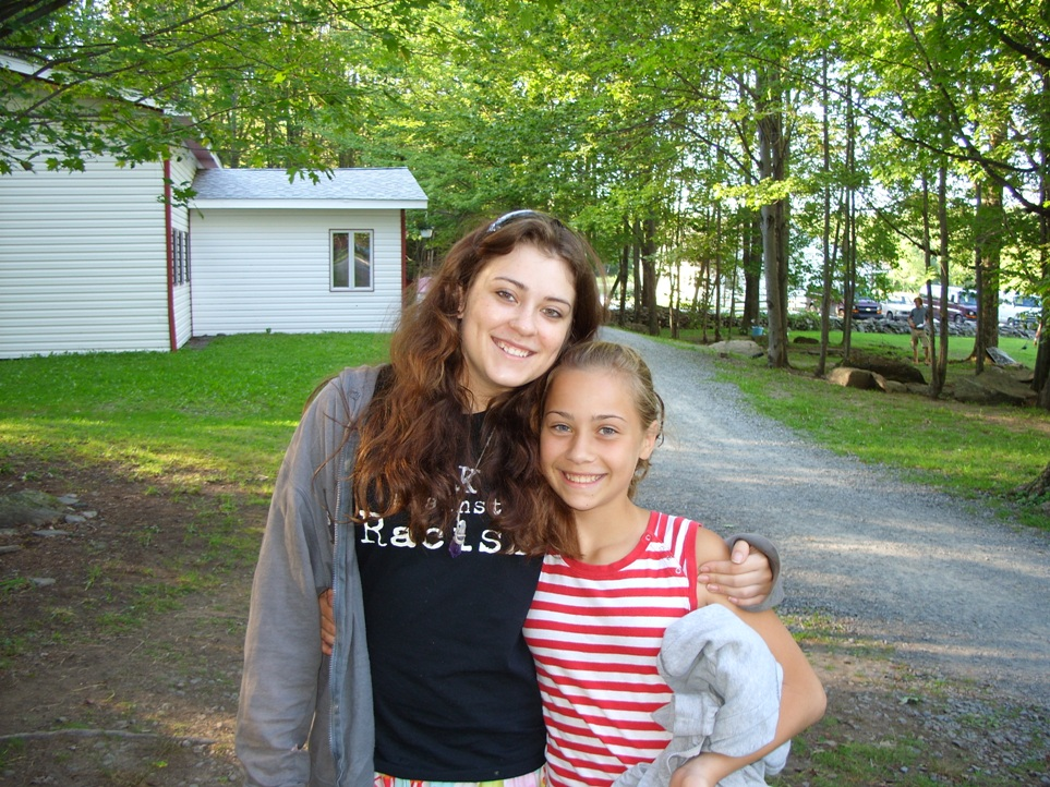 Sylvie with Cecilia at Camp Cayuga, PA.  8-13-2007